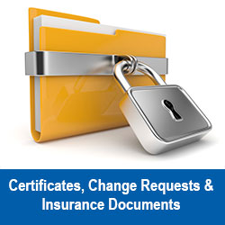 Request Certificates of Insurance and Information